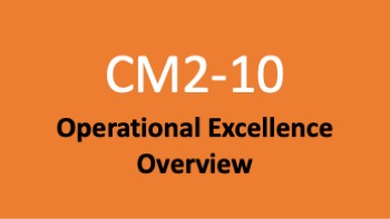 Course 10: Operational Excellence Overview